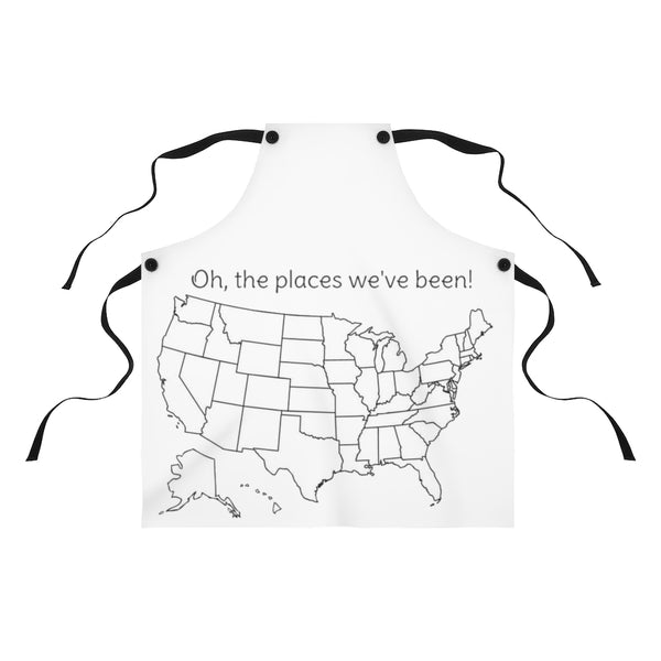 Oh the places we've been colorable Apron