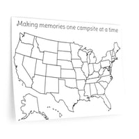 Making memories one campsite at a time colorable Wall Decals