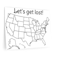 Let's get lost colorable Wall Decal