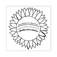6x6 sticker Sunflower Harbor Homeless Outreach Advocate
