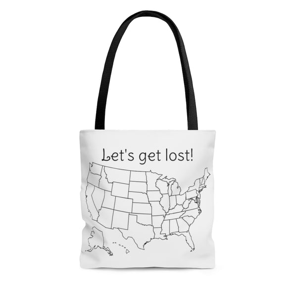 Let's get lost colorable Tote Bag