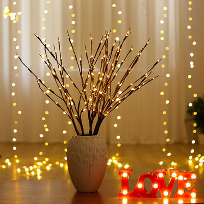 HomeQuill™ Rustic Willow Tree Branch Lights