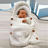 MiniFits™ Knitted Crochet Baby Sleeping Bag BlueRove