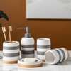 HomeQuill™ Hand-Painted Boho Bathroom Set