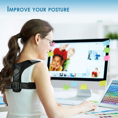 Posture Corrector Adjustable Back Brace Straightener Shoulder Support HomeQuill