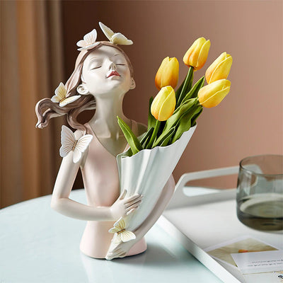 HomeQuill™ Butterfly Girl Vase Tabletop