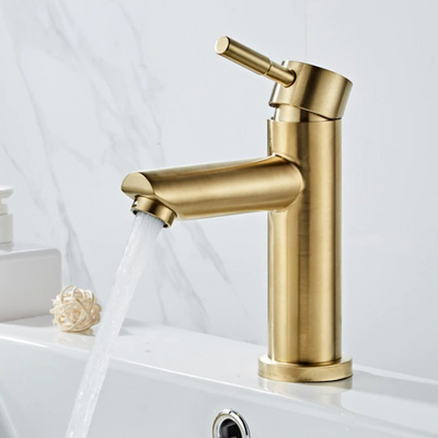 HomeQuill™ Solid Brass Gold-Brushed Faucet