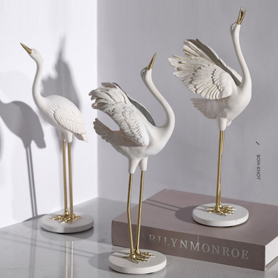 HomeQuill™ Classical Crane Statue Set