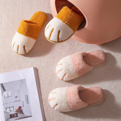 LoungeFit™ Plush Kitty Paw Slippers