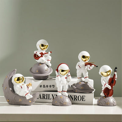 HomeQuill™ Musician Astronauts Figurines