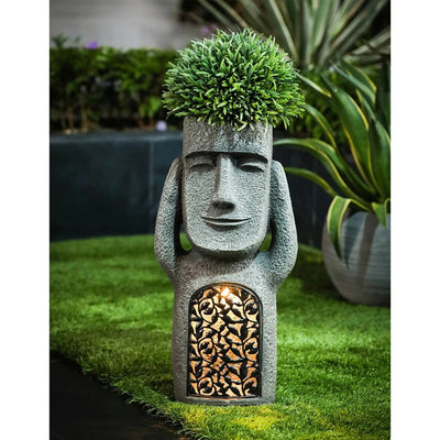 HomeQuill™ Three Wise Easter Island Tiki Statues