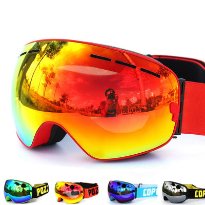 SnowShield™ Premium Snowboarding/Skiing Goggles BlueRove Red