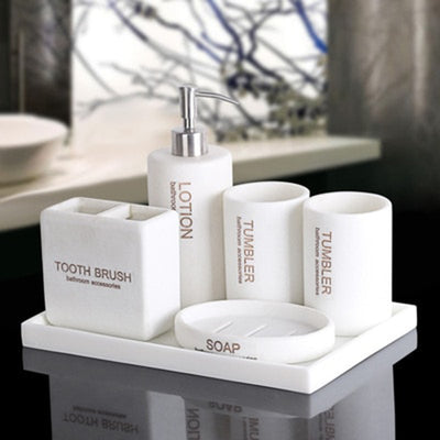HomeQuill™ Modern Minimalist Bathroom Set