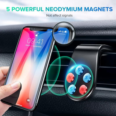 Magnetic Car Phone Holder HomeQuill Black