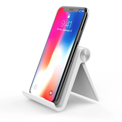 Portable Mobile Phone Holder Stand HomeQuill White