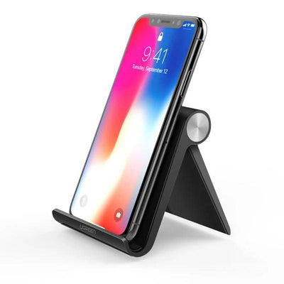 Portable Mobile Phone Holder Stand HomeQuill Black