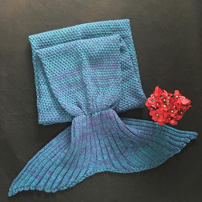 SnuggleTail™ Mermaid Blanket HomeQuill Lake Blue Kids