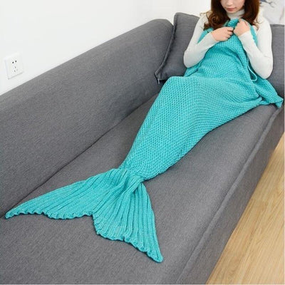 SnuggleTail™ Mermaid Blanket HomeQuill Turquoise Kids