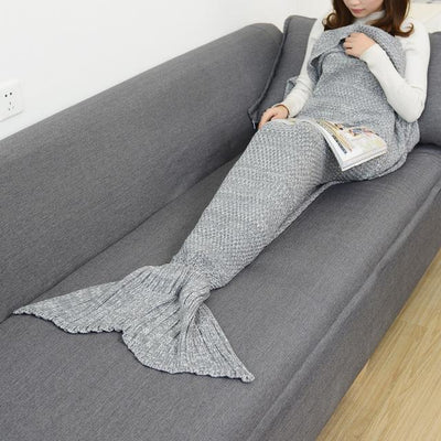 SnuggleTail™ Mermaid Blanket HomeQuill Gray Kids