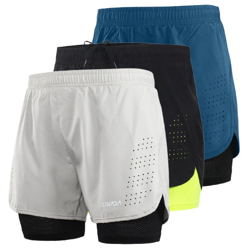 Flexco™ Men's 2-in-1 Running Sport Shorts