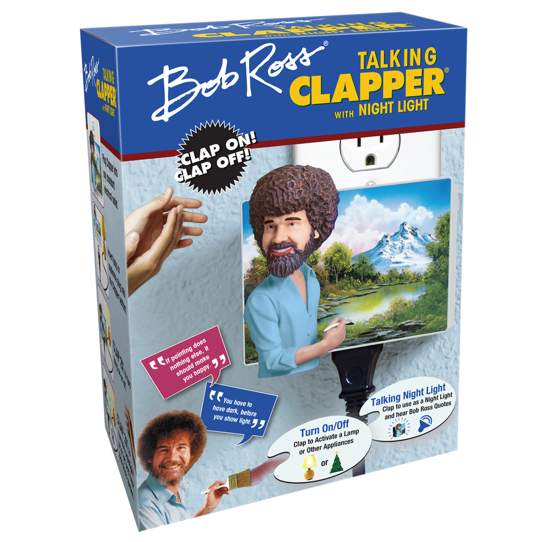 Bob Ross Talking Clapper w/ Night Light