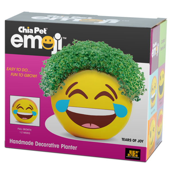 Chia Pet Emoji - Tears of Joy