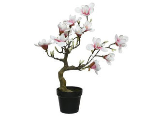 Magnolia in pot synthetisch krom Real touch