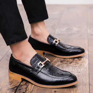 Pointed Toe Mens Dress Shoes Genuine Leather Luxury Wedding Shoes Floral Print Men Flats Office wedding party Formal Shoes k4
