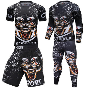 Men Sportswear Breathable Quick Dry Tracksuits Compression Gym Fitness Workout Clothes Sport Jogging Training Running Set Male