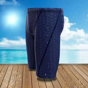 Men Shark Skin Water Repellent Professional Competitive Swimming Trunks Brand Soild Jammer Swimsuit Pant Racing Briefs L-5XL