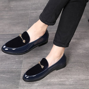 M-anxiu 2020 Fashion Pointed Toe Dress Shoes Men Loafers Patent Leather Oxford Shoes for Men Formal Mariage Wedding Shoes