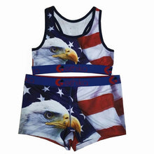 Indlæs billede til gallerivisning Ethika women Bra and underpants set Camouflage shark Sexy Two Piece Spaghetti Strap Sleeveless sports Crop tops Shorts female