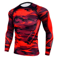 Indlæs billede til gallerivisning NEW Mens Compression Set Running Tights workout Fitness Training Tracksuit Long Sleeves shirts sport suit rashgard kit Men's