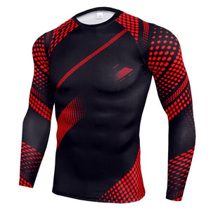 NEW Mens Compression Set Running Tights workout Fitness Training Tracksuit Long Sleeves shirts sport suit rashgard kit Men's