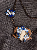 Load image into Gallery viewer, Larkspur Ram -Black Edition- Necklace