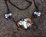 Load image into Gallery viewer, Blue Larkspur Ram Necklace