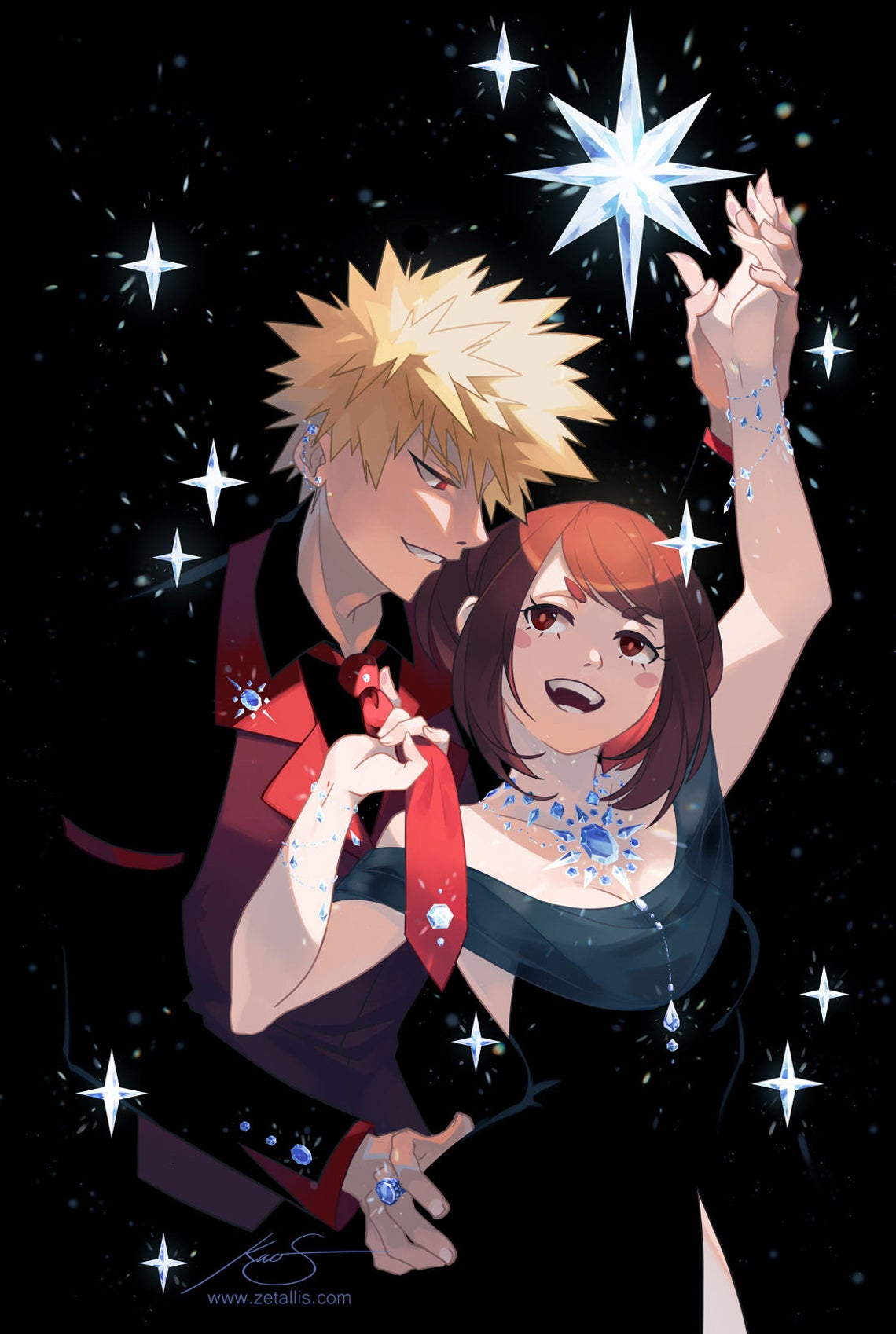 My Hero Academia: Bakugou and Ochako Print