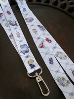 Load image into Gallery viewer, What Lies Here Skull & Flowers Lanyard