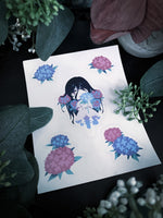 Load image into Gallery viewer, Hydrangea Notebook + Sticker Sheet