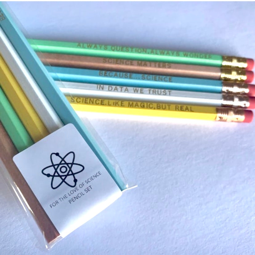 For the Love of Science Pencil Set