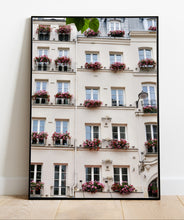 Load image into Gallery viewer, Geraniums on the Left Bank - Paris Print - La Porte Bonheur
