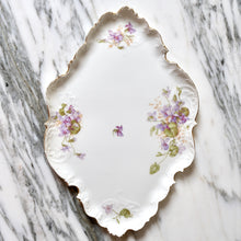 Load image into Gallery viewer, Jean Pouyat Limoges Floral Porcelain Tray - La Porte Bonheur