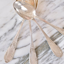Load image into Gallery viewer, Louis XVI Musique Design Silver Plated Spoons - La Porte Bonheur