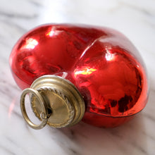 Load image into Gallery viewer, Red Heart Mercury Glass Ornament - La Porte Bonheur