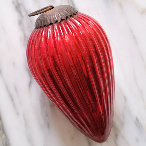 Red Cone Mercury Glass Ornament - La Porte Bonheur