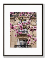 Load image into Gallery viewer, Spring Windows - Paris Print with Magnolias - La Porte Bonheur