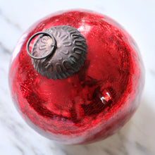 Load image into Gallery viewer, Red Ball Mercury Glass Ornament (Large) - La Porte Bonheur