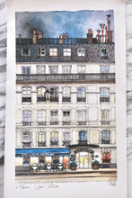 Load image into Gallery viewer, Watercolor Hotel du Quai Voltaire La Porte Bonheur