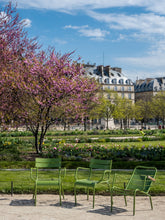 Load image into Gallery viewer, Three Green Chairs in the Tuileries - Paris Photography - La Porte Bonheur