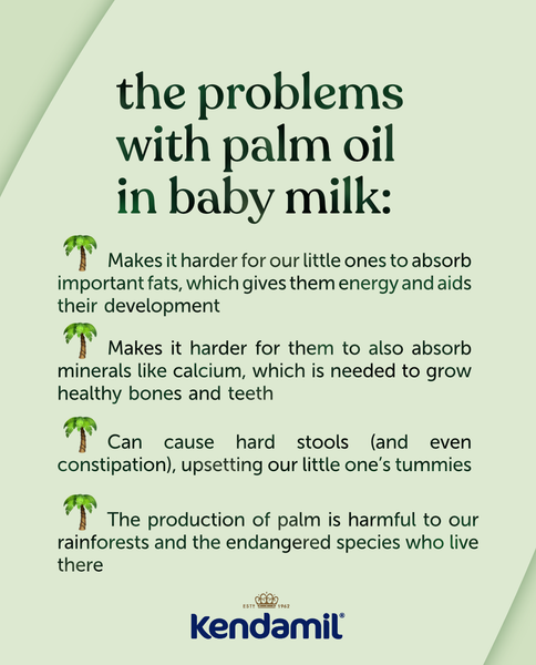 The problems with palm oil infographic